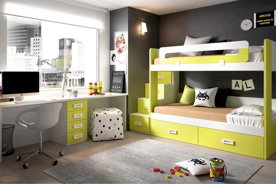 Bienvenidos a dg muebles cocinas i mobiliario de hogar y - Doppelstockbett mit treppe ...