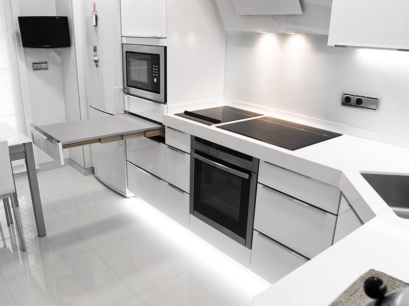 Muebles De Cocina En Blanco. Best Laca Blanca Y Acero With Muebles ...