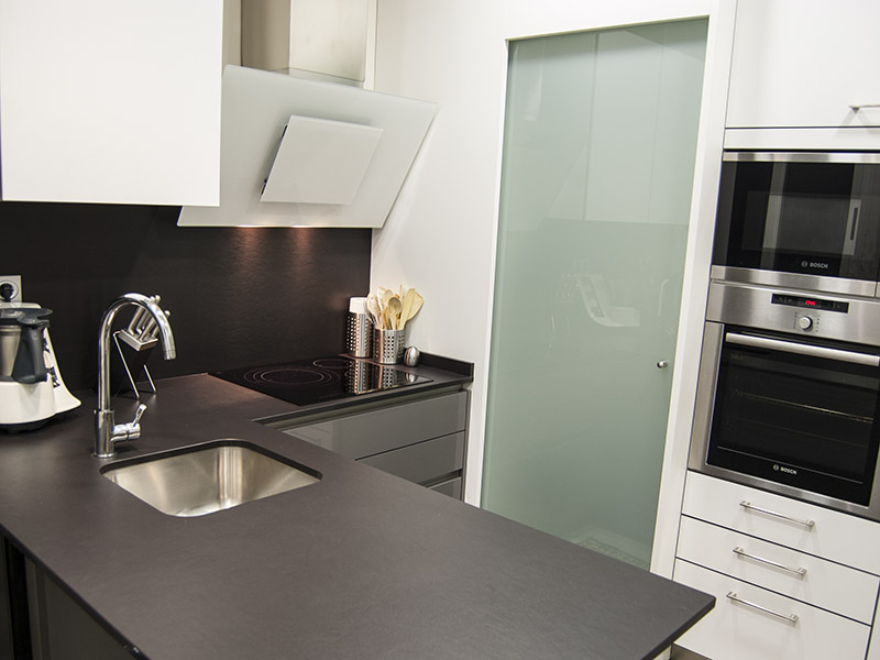 muebles pennsula mueble para lavadora y secadora con puerta de cristal corredera en columna campana decorativa de cristal y grifo