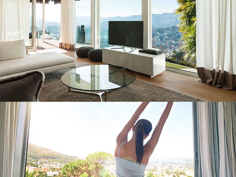 mueble salon moderno luminosidad