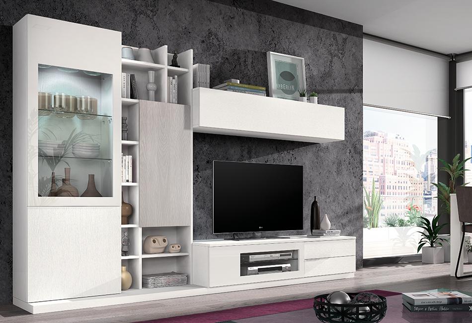 Mueble Salon Blanco Y Gris. Trendy Muebles Comedor Negro Y Blanco ...